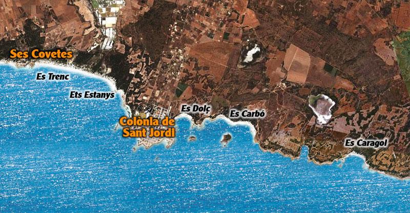 Colònia Sant Jordi - map, karte, mapa