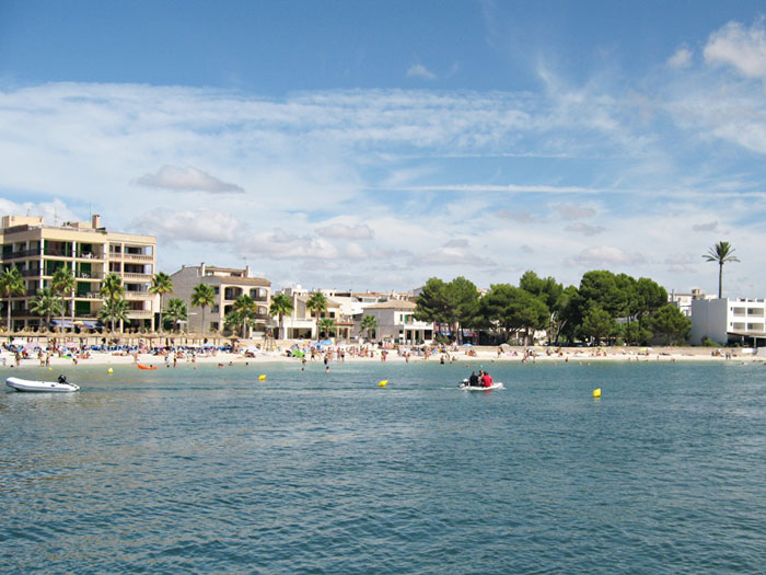 Colònia Sant Jordi - Beach Playa del Puerto, Strand am Hafen